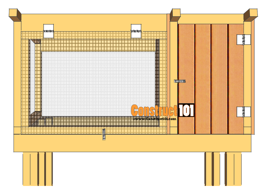 rabbit hutch plans step 10