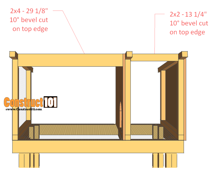 rabbit hutch plans step 5