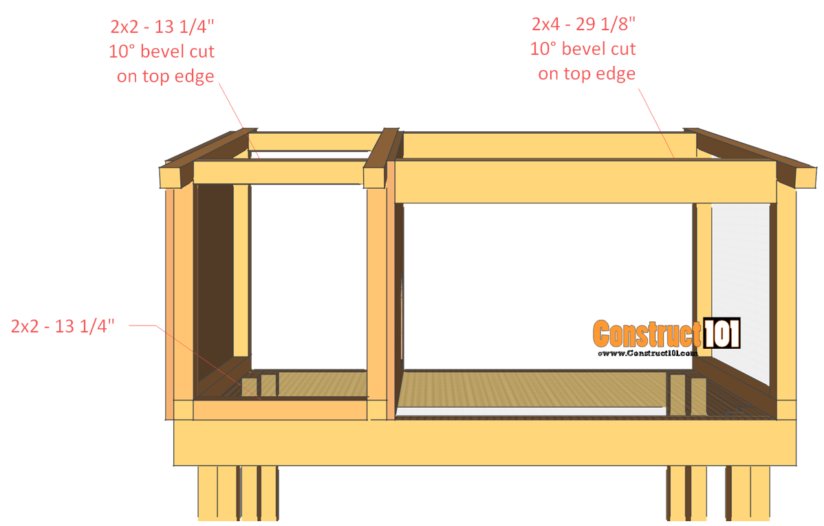 rabbit hutch plans step 6