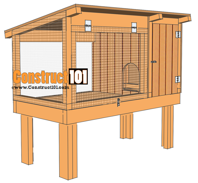 rabbit hutch plans