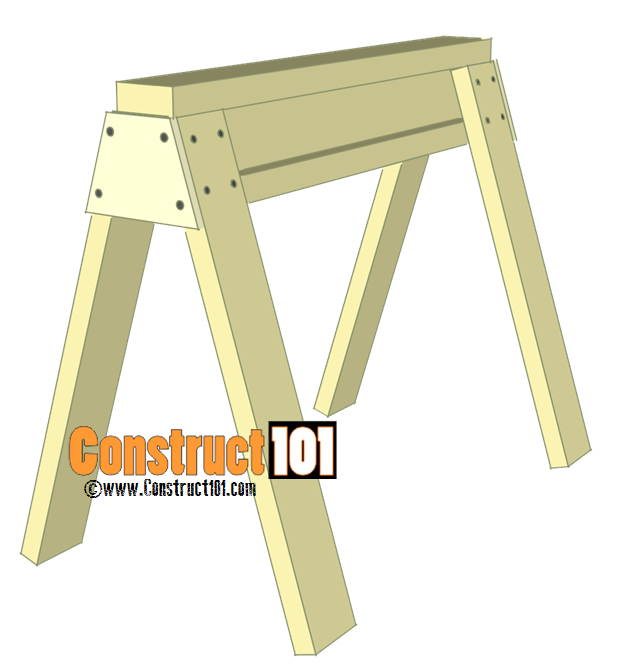 Sawhorse Plans - PDF Download - Construct101