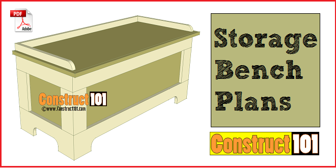 Storage Bench Plans - PDF Download - Construct101