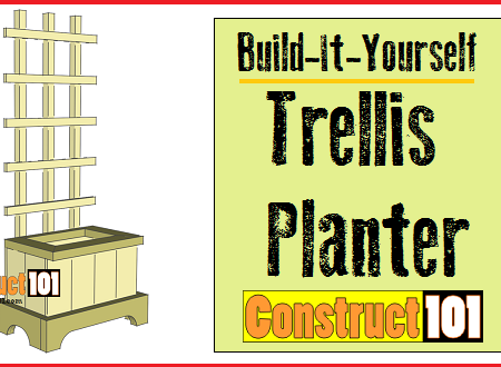 trellis planter plans - featured