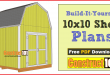 10×10 Shed Plans – Gambrel Shed
