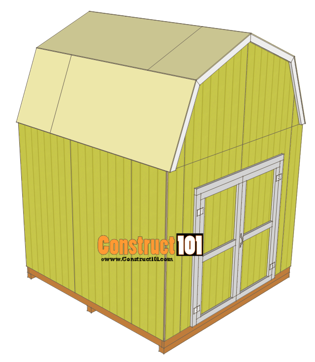 10x10 shed plans - gambrel shed - roof deck
