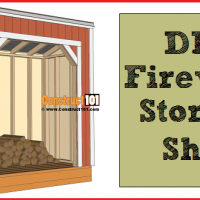 Firewood shed plans, 4x8 storage.