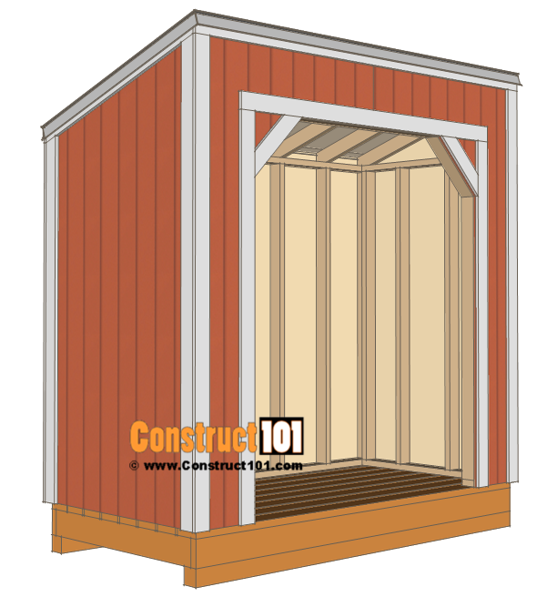 Firewood shed plans - 4x8 - installing shingles and trim.