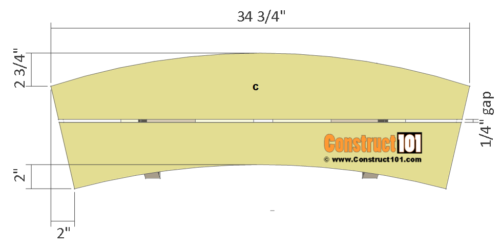 round picnic table plans - bench plank
