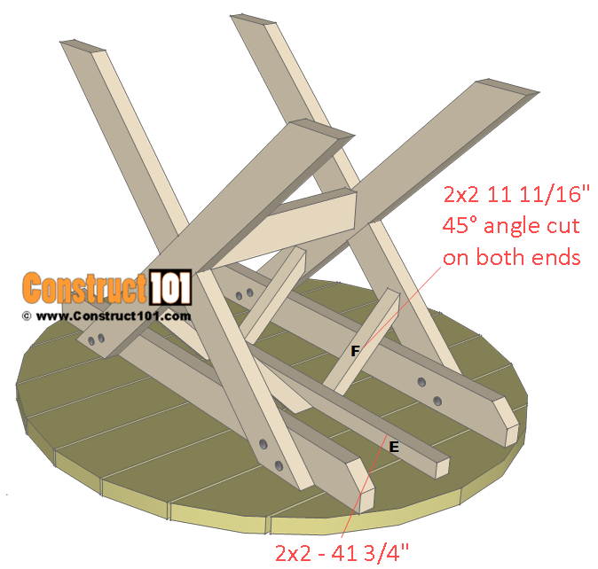 round picnic table plans - brace