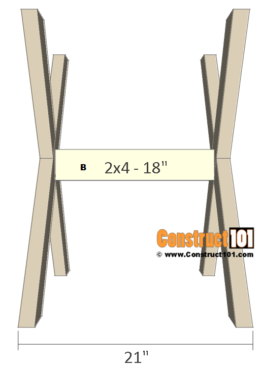 round picnic table plans - stretcher