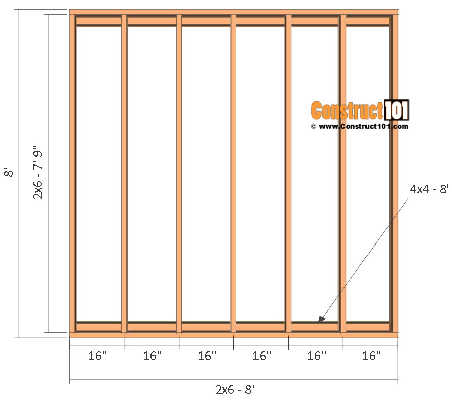 Garden shed plans , 8'x8, floor frame.