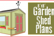 Garden Shed Plans – 8×8 – Step-By-Step