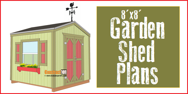 Garden Sheds 8x8 garden shed plans - 8x8 - step-by-step - construct101