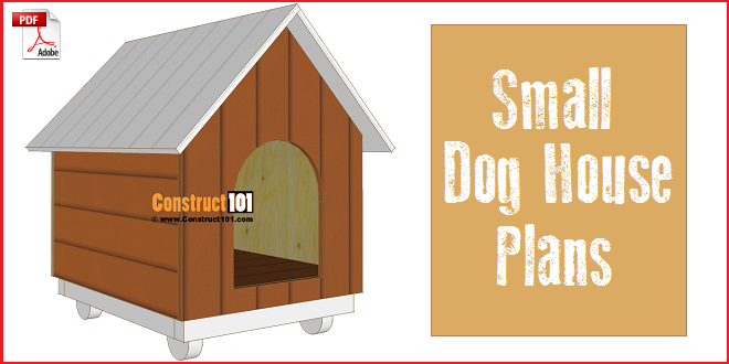 Small dog house plans step by step construct101 for Dog kennel floor plans