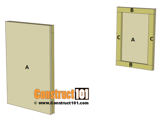 Chicken Coop Nest Box Plans - 4 compartments / stackable, step 1.