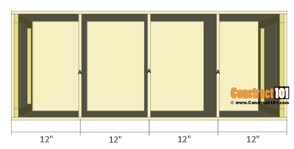 Chicken Coop Nest Box Plans - 4 compartments / stackable, step 4.