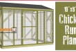 Chicken Coop Run Plans – 10×8 – Step-By-Step