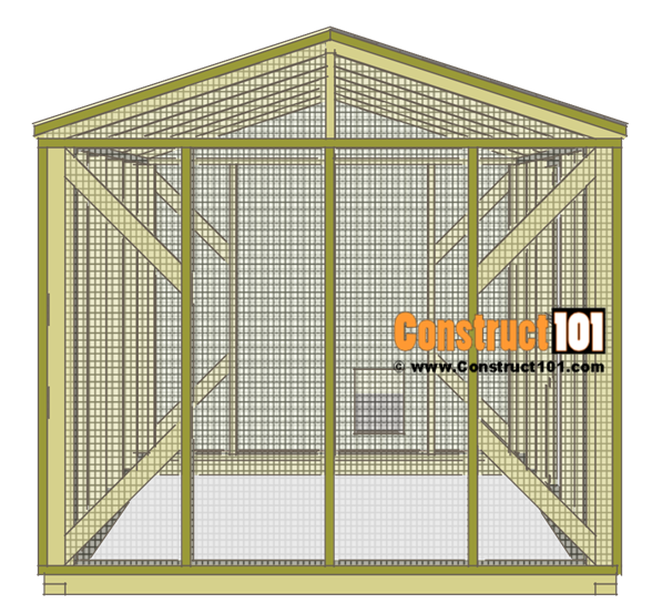 Large chicken coop plans, left side.