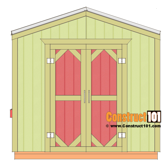 Large chicken coop plans, right side.