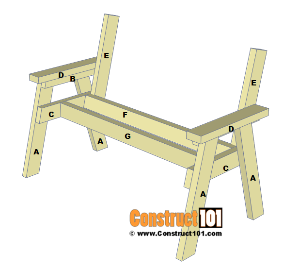 2x4 bench plans step by step material list construct101 for 2x4 stool plans