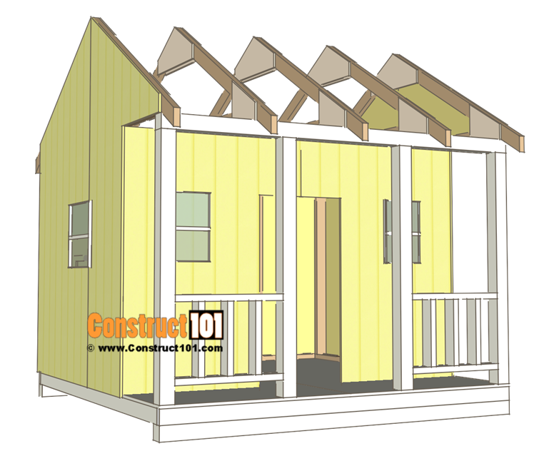 Playhouse plans - t1-11 exterior siding.