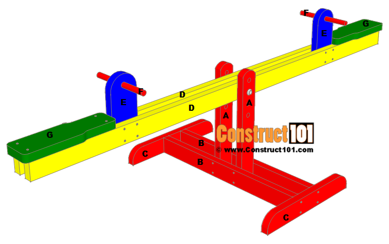 Seesaw plans material list.