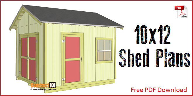 Lean To Shed Plans 4x8 Step By Step Construct101