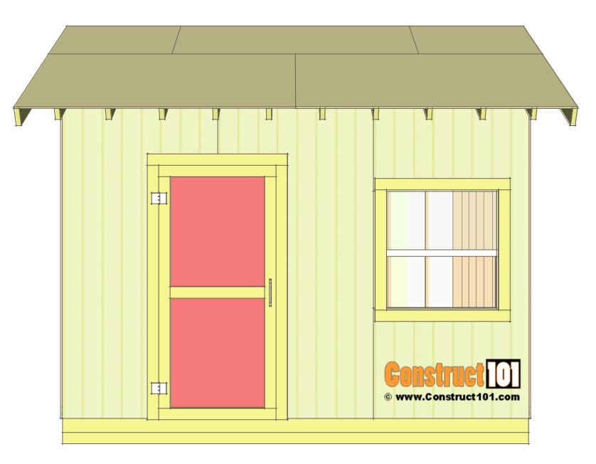Shed plans 10x12 gable shed step by step construct101 for Shed deck plans