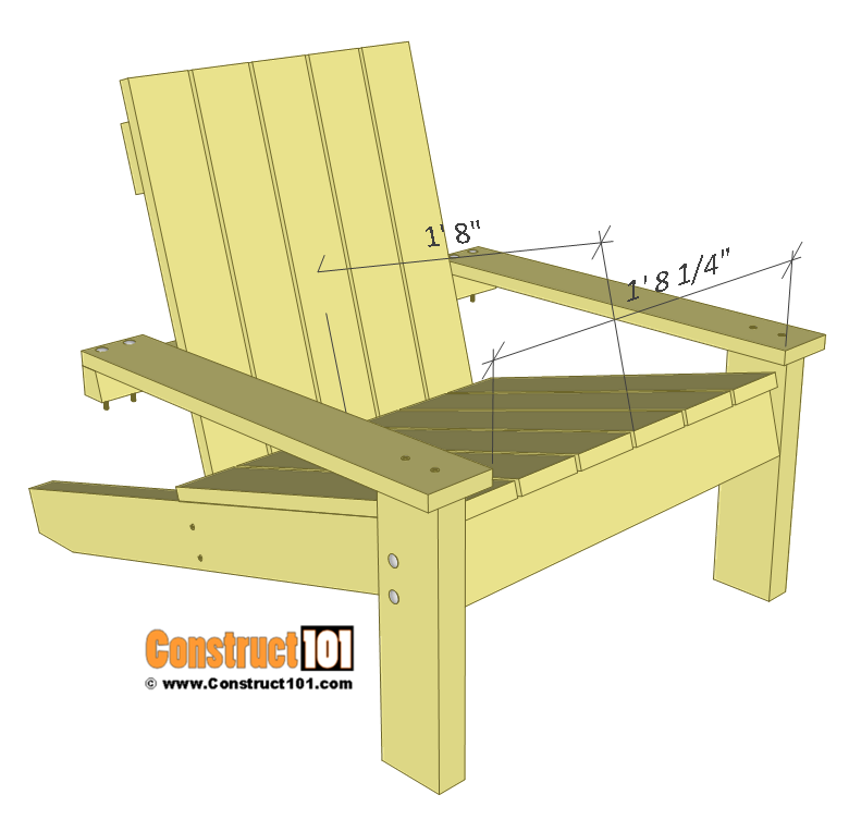 Simple Adirondack Chair Plans Diy Step By Step Project Construct101