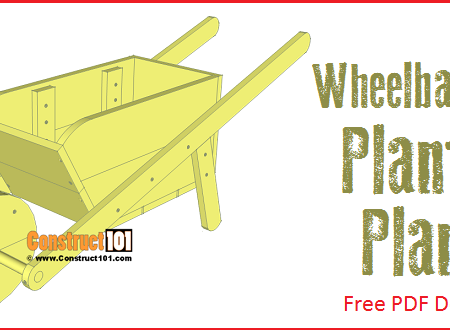 Wheelbarrow planter plans - free PDF download.