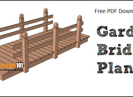 Flat deck garden bridge plans free PDF download.