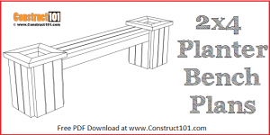 2x4 planter bench plans, diyproject, free PDF download.