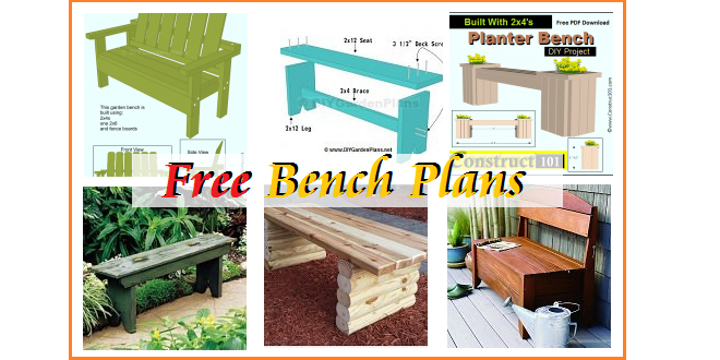 Garden Bench Plans Pdf: Outdoor Garden Bench Plans (Free)