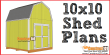 10x10 shed plans gambrel shed - free PDF download at Construct101