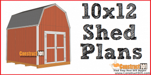 10x12 shed plans - DIY free PDF download. DIY projects at Construct101