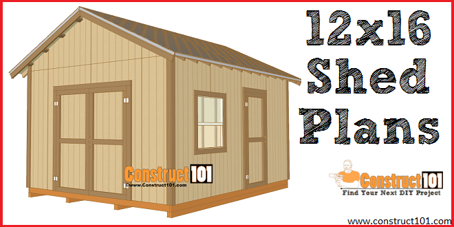 Do It Yourself Home Design: 12x16 Shed Plans
