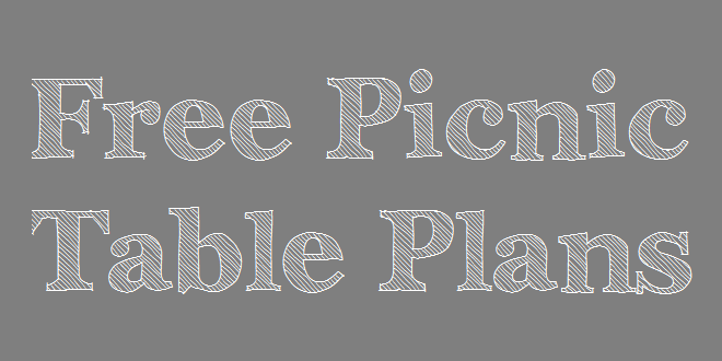 Picnic table plans, free PDF download