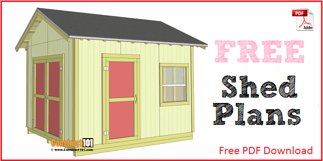 Free shed plans with drawings material list free pdf for Shed plans and material list