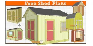 Free shed plans - free PDF download, material list, drawings, and step-by-step instructions.