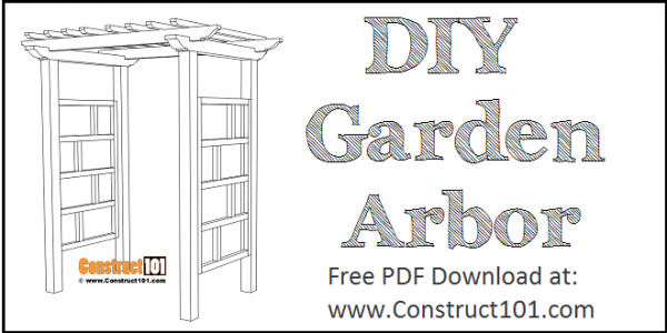 Garden arbor plans, free PDF download.