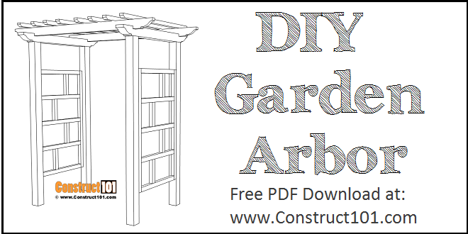 Garden arbor plans, free PDF download.