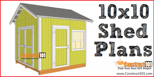 Free Shed Plans - with Drawings - Material List - Free PDF