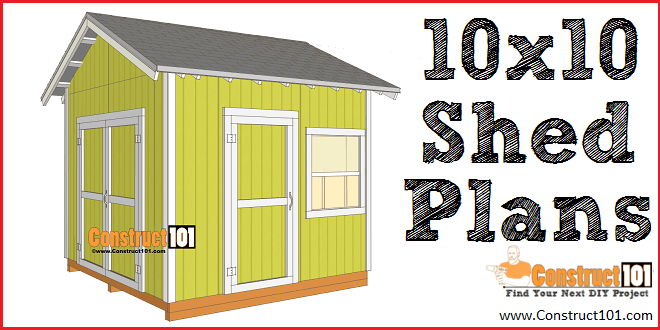 Shed Plans 10x10 Gable Shed Construct101