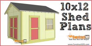 Shed plans 10x12 gable shed - free PDF download. DIY projects at Construct101