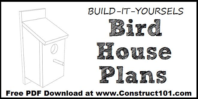 DIY basic bird house plans.