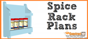 Spice rack plans - free PDF download - DIY projects - Construct101