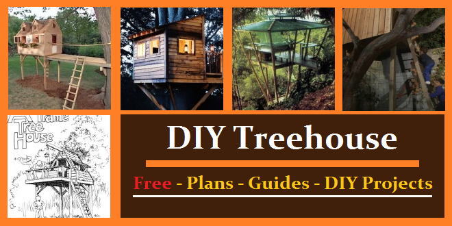 Treehouse plans ideas guides construct101 for Free treehouse plans