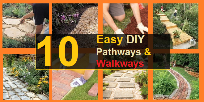 Do It Yourself Home Design: 10 Easy DIY Pathways & Walkways