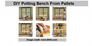 potting bench plans pallets