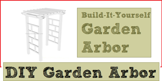 Garden arbor plans with free PDF download.